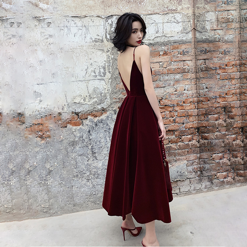 TWOTWINSTYLE Summer Backless Dress For Women V Neck Spaghetti Strap Sleeveless High Waist Sexy Party Dresses Female 2020 Fashion 2