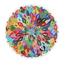 Quebra-cabeça redonda 1000 quebra-cabeças da peça para adultos mandala colorida 26.8*26.8 polegadas