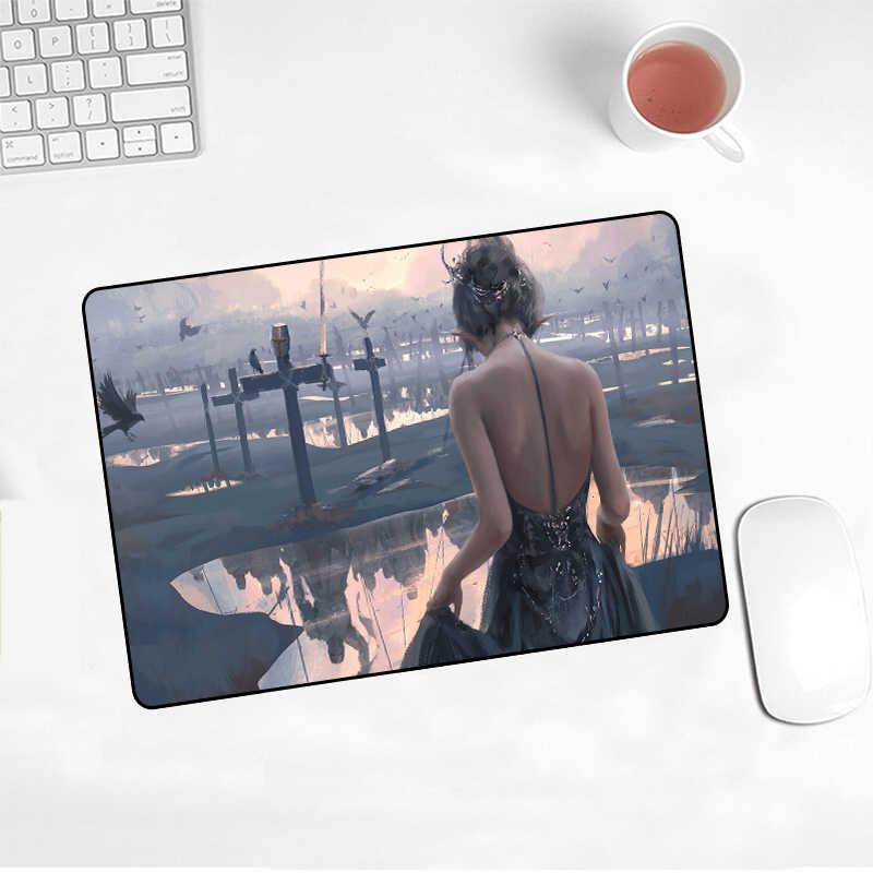 XGZ рекламная горячая Распродажа, аниме-нож-призрак, коврик для мыши ангела, игровой плеер, нескользящая клавиатура 220X180X2MM, коврик для Cs Go/work
