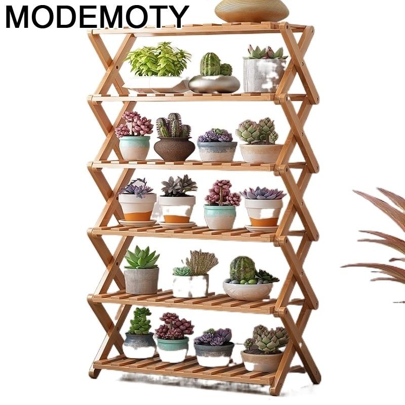 Escalera Decorativa Madera Indoor Pot For Estanteria Jardin Plantenrekken Dekoration Outdoor Plant Rack Shelf Flower Stand
