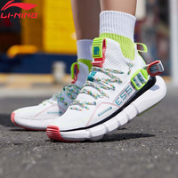 Li Ning Women ESSENCE LACE UP PRM GS Basketball Leisure Shoes Breathable Mono Yarn LiNing Sneakers Sport Shoes AGBP078 YXB306