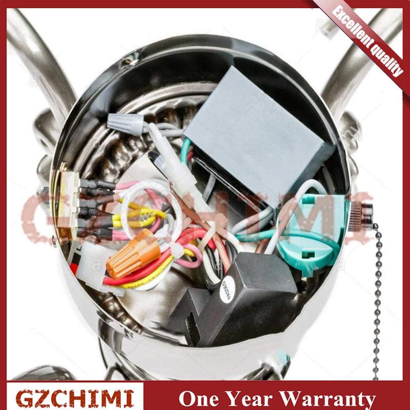 Zing Ear ZE-268S6 ZE-208S6 vitesse 3 4 Fils Ventilateur de plafond Pull Chaîne Interrupteur Contrôle