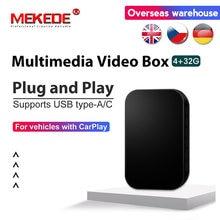 Mekede universal carro android multimídia player caixa 4 + 32gb android 9.0 espelho sem fio de vídeo android rádio do carro caixa de decodificação