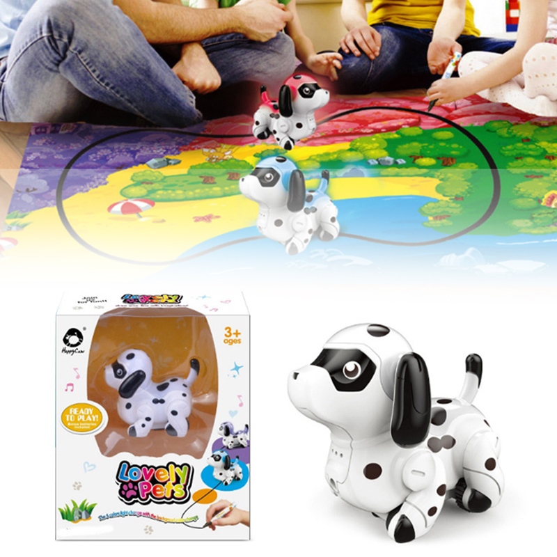 Drawn Line Magic Pet Toys Pen Inductive Color Change Dog Map Auto Selfie Run Follow Black Track Children Gift YH-17