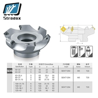 KM12 50 22 4T/KM12 63/KM12 80 45 Degree Shoulder Face Mill Head CNC Milling Cutter,milling cutter tools,carbide Insert SEHT1204
