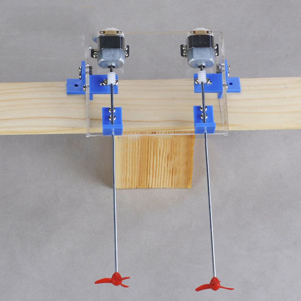 DIY RC Boat Kit Toy Propeller Motor Shaft Red Paddles Brackets Replacement Spare parts Model