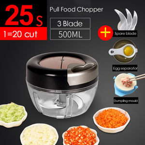 Manual Food Chopper for Vegetable Fruits Nuts Onions Quick Pulling Chopper Pull Mincer Blender Mixer Food Processor Kitchen Tool