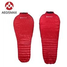 цена на AEGISMAX NANO Red Outdoor Camping Ultra Dry White Goose Down Mummy Sleeping Bag