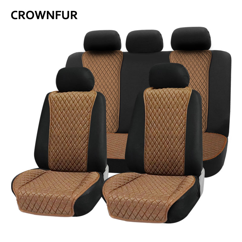 Flax Car seat cover Fit for most cars healthy and breathable Automotive interior four seasons Universal luxury car seat cushion