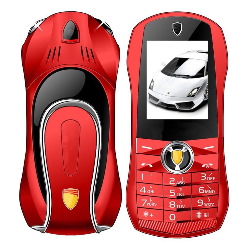Pas de caméra débloqué téléphone portable Mobile F1 jouets droits voiture téléphone enfants personnage de dessin animé Mini modèle avec lumières corps en métal