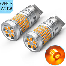 2x T20 7440 W21W LED Bulb 1156 P21W Ba15s PY21W Car Turn Signal Light for BMW E60 E90 F10 F30 E39 E36 F20 E91 X5 E53 E30 Amber