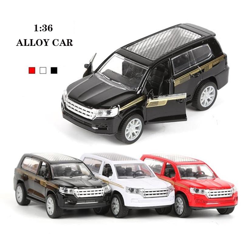 1:36 High Simulation Alloy Car Model Diecast Metal Pull-back Land Cruiser Alloy Car Model Toys Gifts For Children