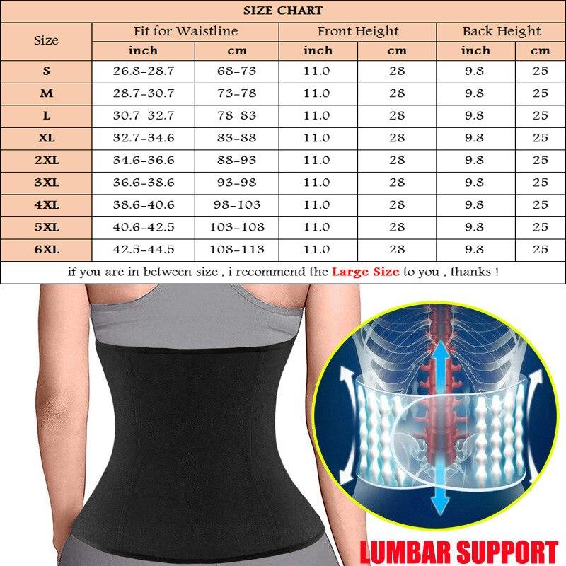 NINGMI S 6XL Slim Waist Trainer Body Shaper for Women Neoprene Sauna Strap Weight Loss Shapewear Cinchers Belt Girdles Plus Size in Waist Cinchers from Underwear Sleepwears