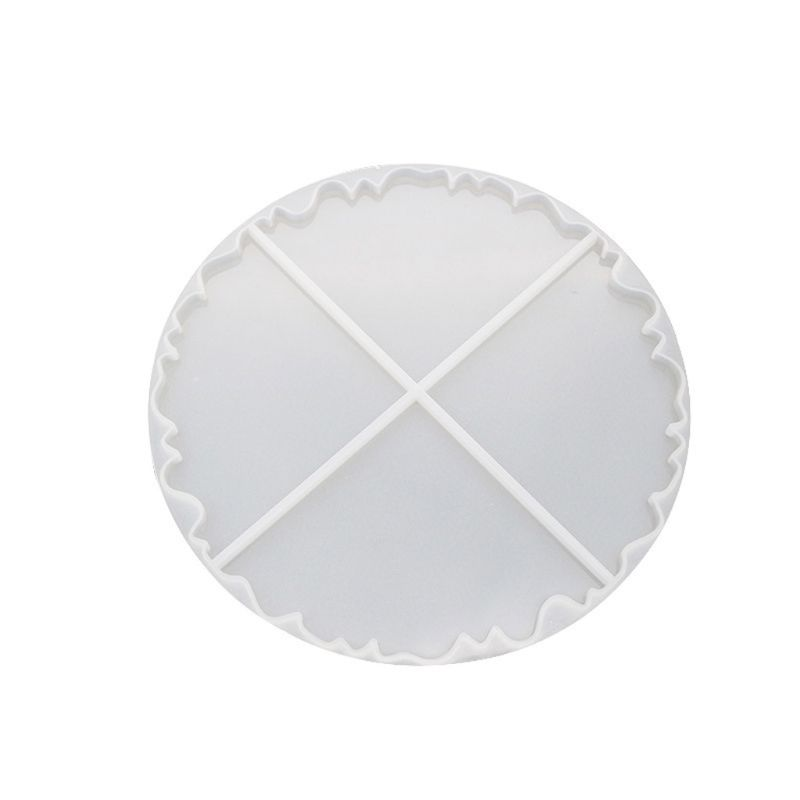 Irregular Wave Round Coaster Silicone Resin Mold Epoxy Resin Jewelry Making