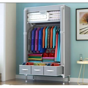 Fashion Simple Wardrobe Non-Woven Fabrics Portable Storage Cabinet Multifunction Dustproof Moistureproof Closet Home Furniture