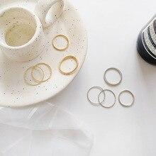 Simple Twist Geometric Wedding Band Street Snap Rings Set
