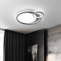 Moderno led luzes da sala de estar luz teto para o quarto redondo cinza rosa verde iluminação casa AC85 265V alumínio lâmpada do teto|Luzes de teto| |  -