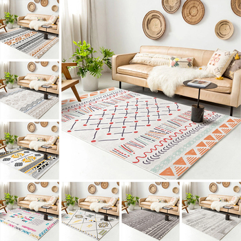 Bohemian Style Printed Flannel Area Rug Printed Room Area Rug Floor Carpet For Living Room Bedroom Home Decorative Crapet 2020