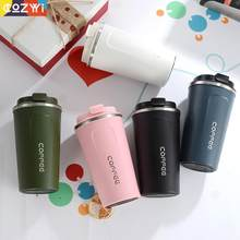 Thermos Coffee Stainless Steel Vacuum Coffee Mugs Office Business Coffee Cuptermo Para Cafe Outdoor Portable Coffee Bottle(China)
