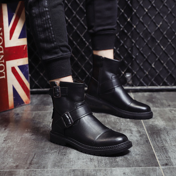men leisure punk motorcycle boots genuine leather shoes platform spring autumn cowboy boot outdoors ankle bota masculina botines
