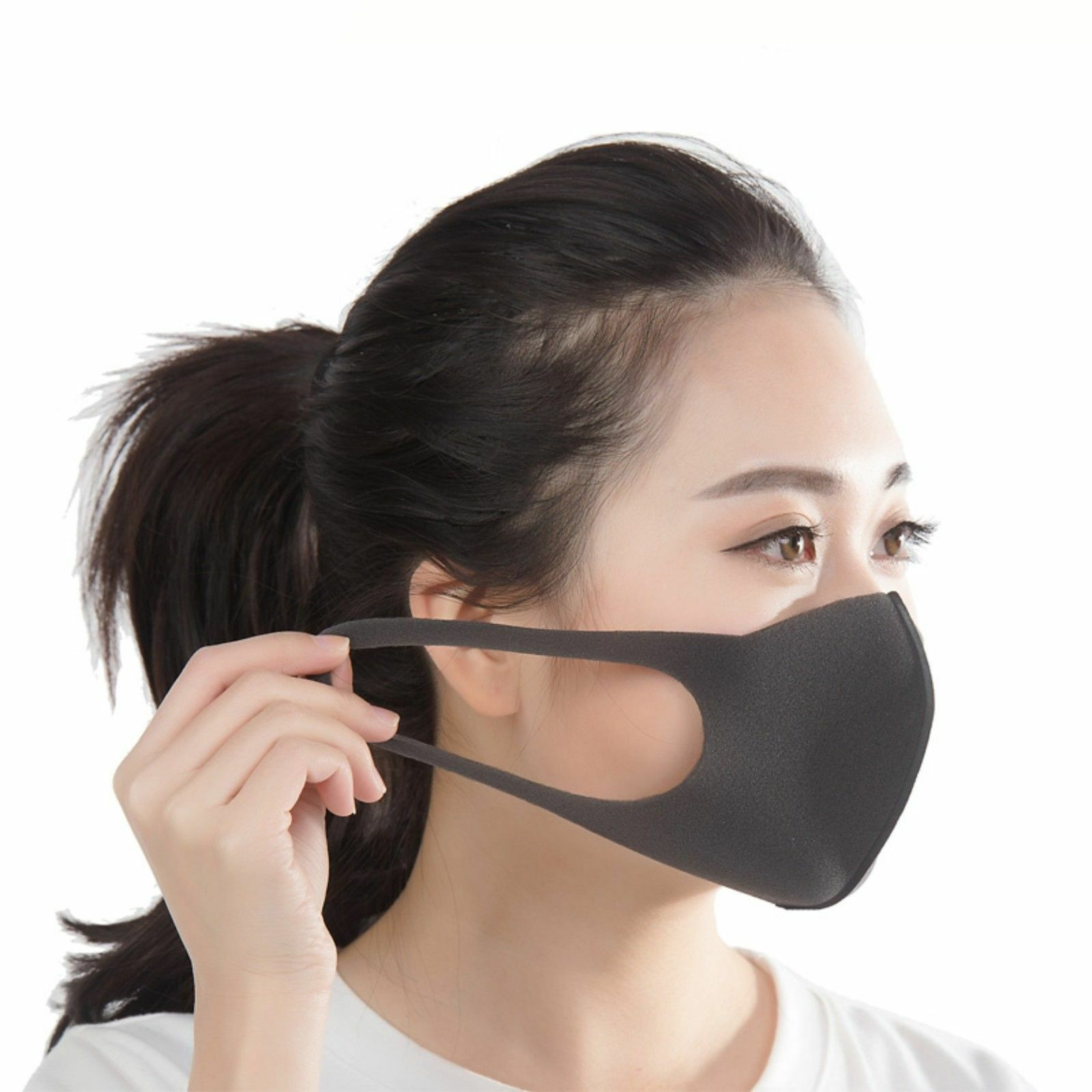 3/6pcs Regular Size Black Mask Dark Gray Anti-Pollution Outdoor Dust Face Mask For Men And Women Hot Sale