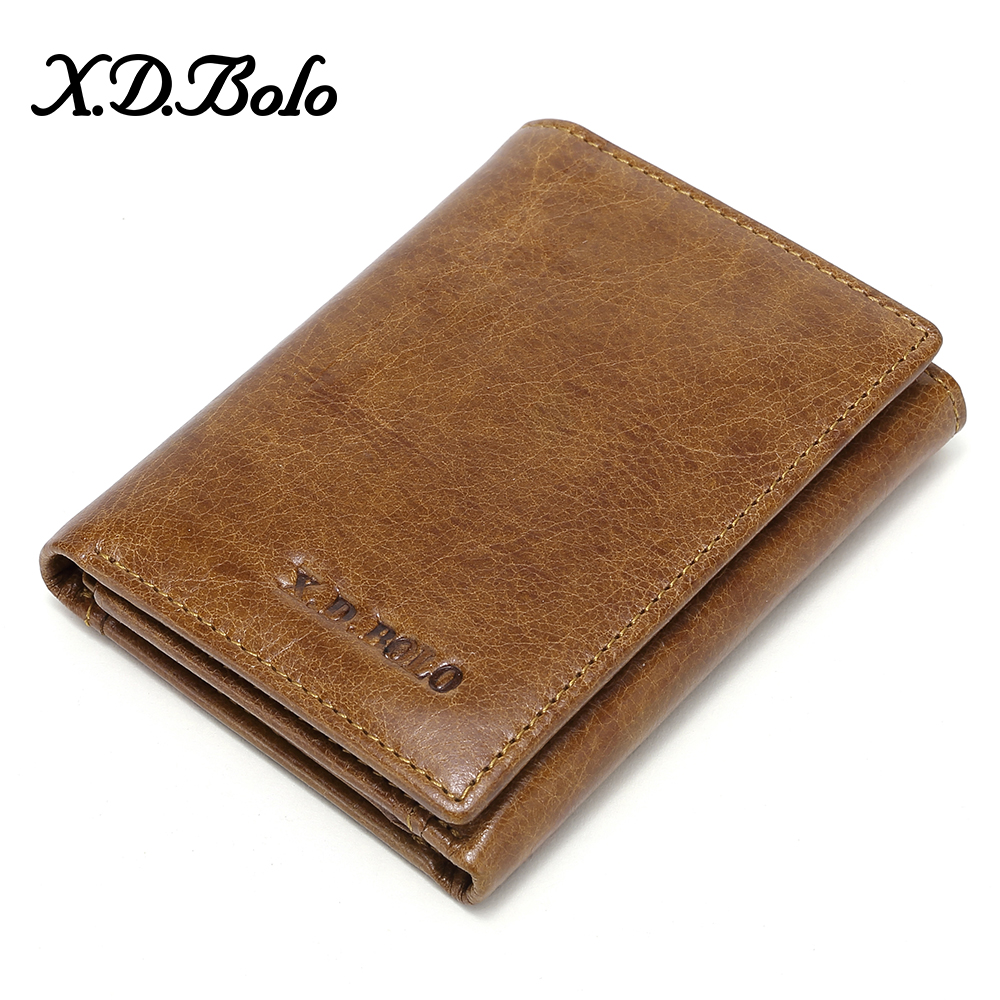 XDBOLO 2020 Men Wallets Genuine Leather Men's Leather Wallet Card Holder Male Wallet Zipper Coin Pocket Wallet Purse Wholesale