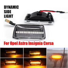 LED dinamik yan çamurluk Marker lambası dönüş sinyal ışığı için OPEL Astra H Zafira B Corsa D Insignia bir Meriva B chevrolet Cruze