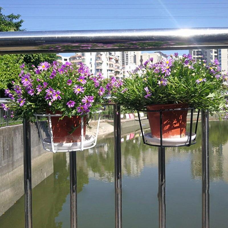 1 шт. Круглый цветок горшок стойка растение подвес цветок стойка балкон сад принадлежности подвес растение утюг стойки открытый сад принадлежности