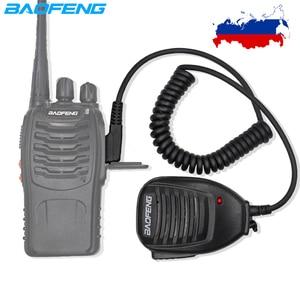 Original Baofeng UV-82 Radio Speaker Mic Microphone PTT For Portable Two Way Radio BF-888S UV-5R UV-6R UV 82 UV-5RE Walkie Talki