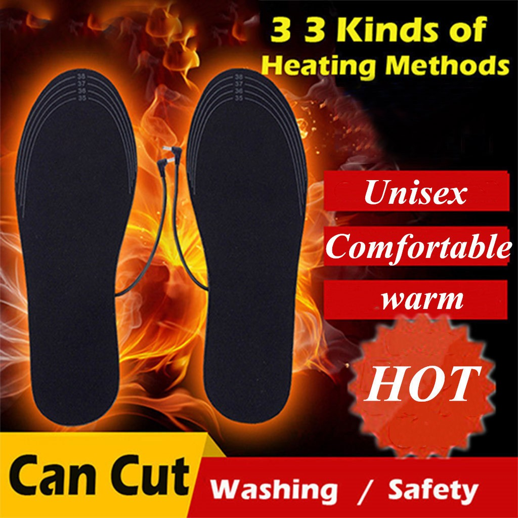 Usb Heating Insole Electric Heating Foot Treasure Charging Heating Washable PA