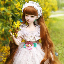 MODIKER 2020 NEW 1/3 23 Joints Movable Dressup Princess Small floral Tulle Skirt BJD Doll Set Action Figure Model Toy Lolita(China)