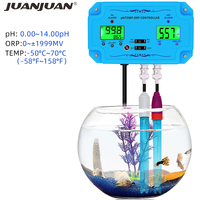 3 in 1 pH/TEMP/ORP Controller PH 2839 ORP Meter PH Tester Detector BNC Type Probe Water Quality for Aquarium Monitor 30% off