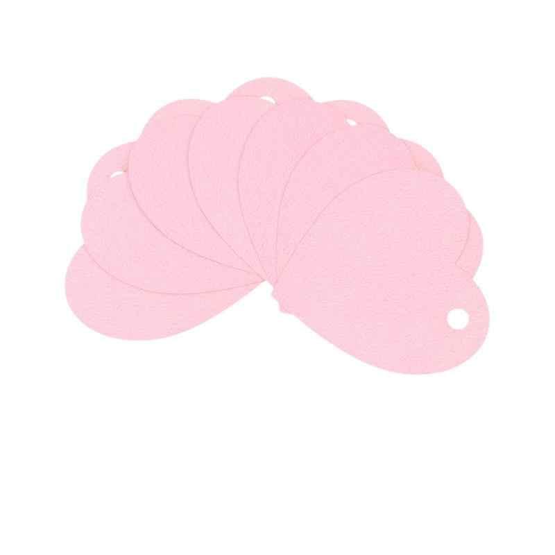 50pcs DIY แขวนรูปหัวใจ: วันวาเลนไทน์ตกแต่งแขวน: Little สีชมพูหัวใจ WISH Card Statement การ์ด