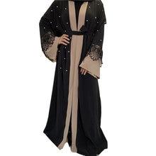 Модный женский халат мусульманские женские кружевные манжеты