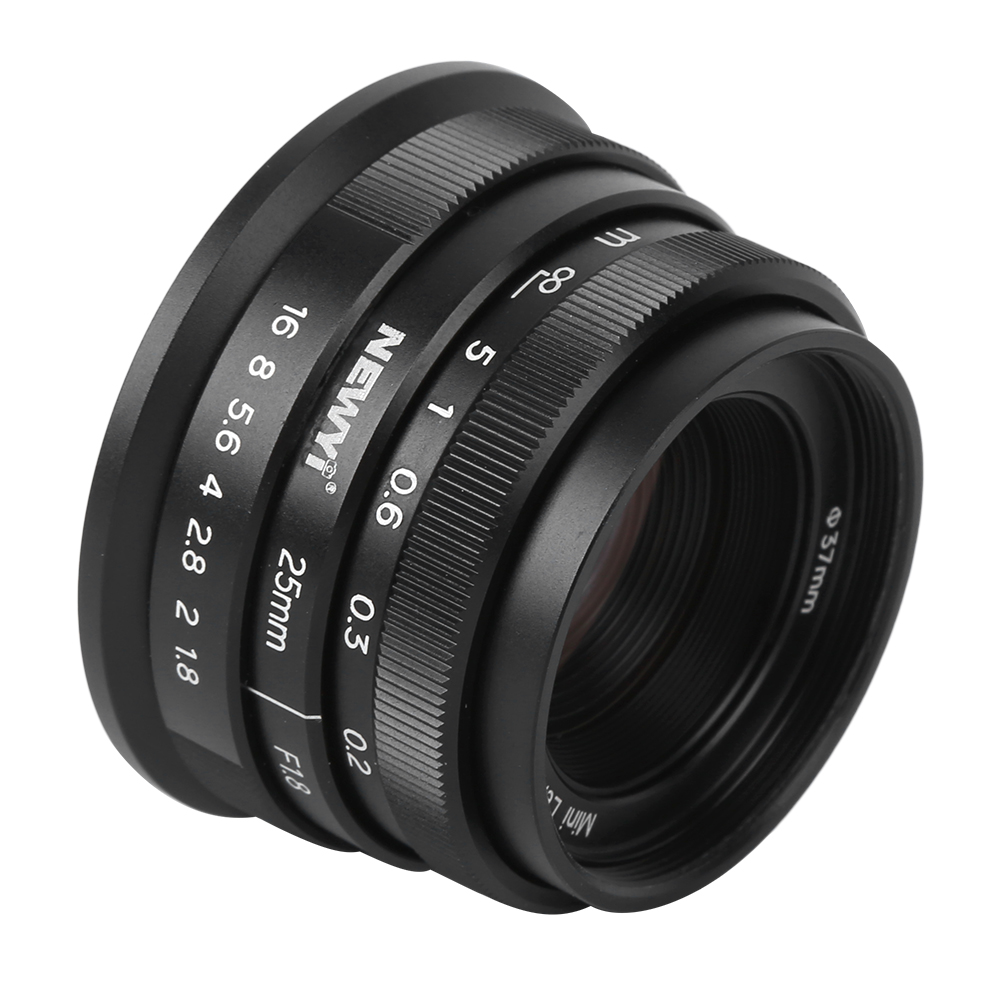 NEWYI 25mm f1.8 Manual Portrait Fixed Focal APS-C Lens for Sony A9 A7 Series A6600 A6400 A6000 E Mount for M4/3 Mount Camera
