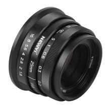 NEWYI 25mm f1.8 Manuel Portrait Focale Fixe APS-C Lentille pour Sony A9 A7 Série A6600 A6400 A6000 Monture E pour M4/3 Monture