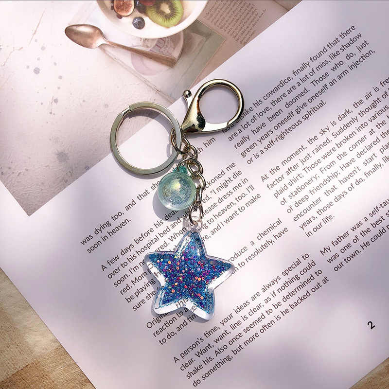Необычные и фантазийные горячие новые мультфильм морской мир Морская звезда жемчужная оболочка брелок хрустальный кулон брелок женский подарок