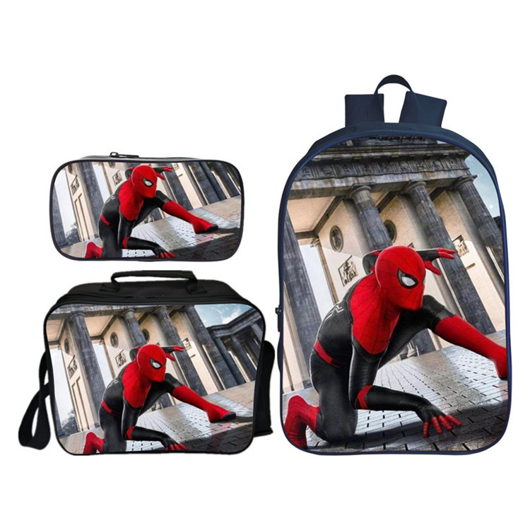 Hot Sale 3Pcs/Set Spider Man Children Shoulder Backpacks Cartoon Kids Baby School Bags Boys Bookbag Student Boy Schoolbag