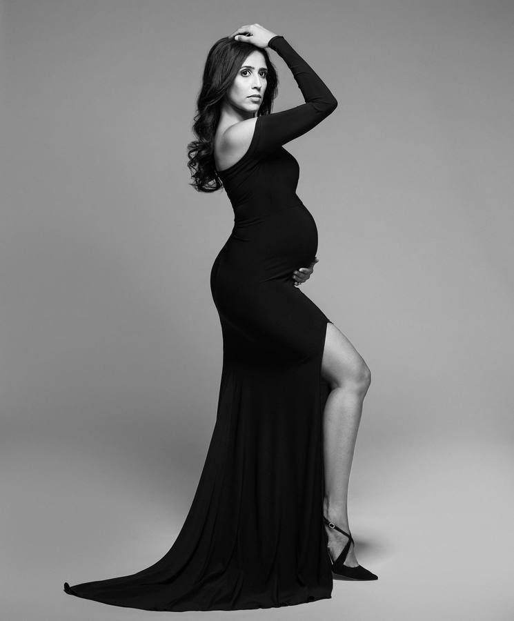 Shoulderless Maternity Dresses Photography Props Sexy Split Side Maxi Gown For Pregnant Women Long Pregnancy Dress Photo Shoots (6)