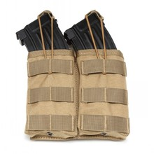 цены Tactical Molle Double Magazine Pouch Holster M4 M16 AK Hunting Bag Airsoft Paintball Gear Military Army Rifle Pistol Mag Pouches