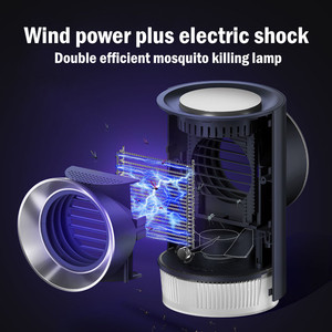 Image 1 - Free_on Electric Shock Mosquito Killer Lamp No Noise No Radiation Insect Killer Flies Trap  Anti Mosquito LED Trap For Bedroom