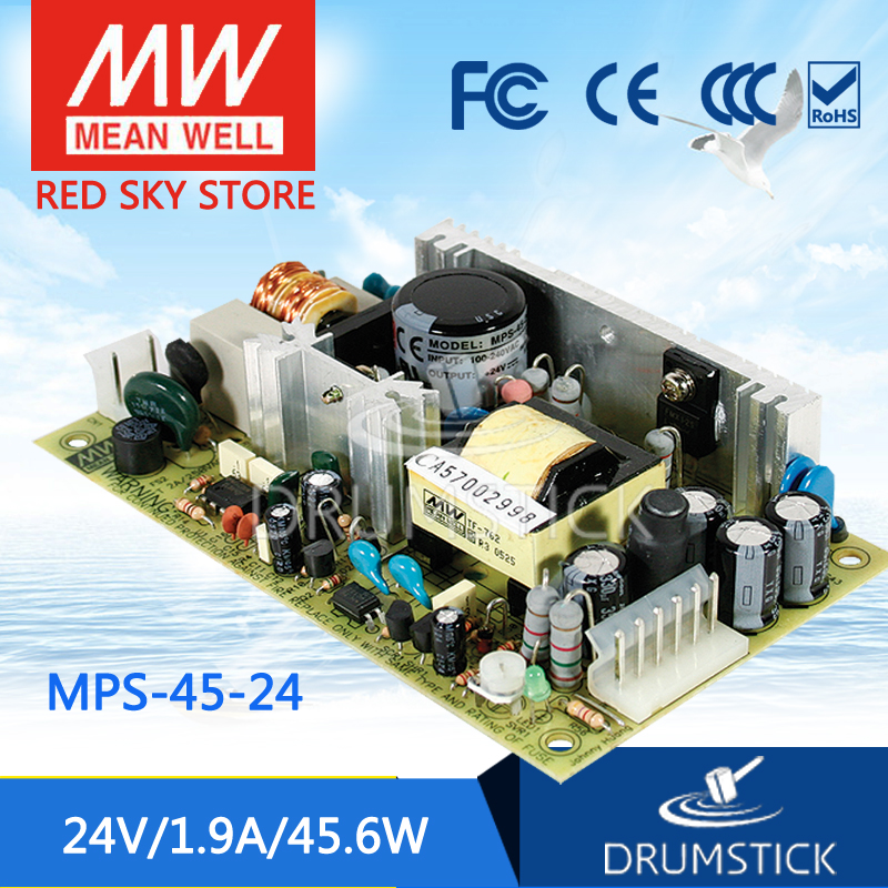 nice MEAN WELL 2Pack MPS-45-24 24V 1.9A meanwell MPS-45 24V 45.6W Single Output Medical Type