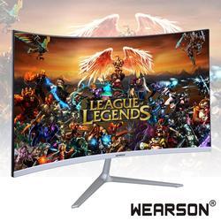 Wearson 23.8 polegada ultra fino flexural 7mm curvado widescreen lcd monitor de jogos hdmi vga entrada 2ms resposta ws238h