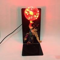 Goku Son DBZ Strength Bombs Bulb Lamp Dragon Ball Z Lamp EU US Plug Home Table Lamp RGB Red Blue Green Lighting Kid Toy Gift Led