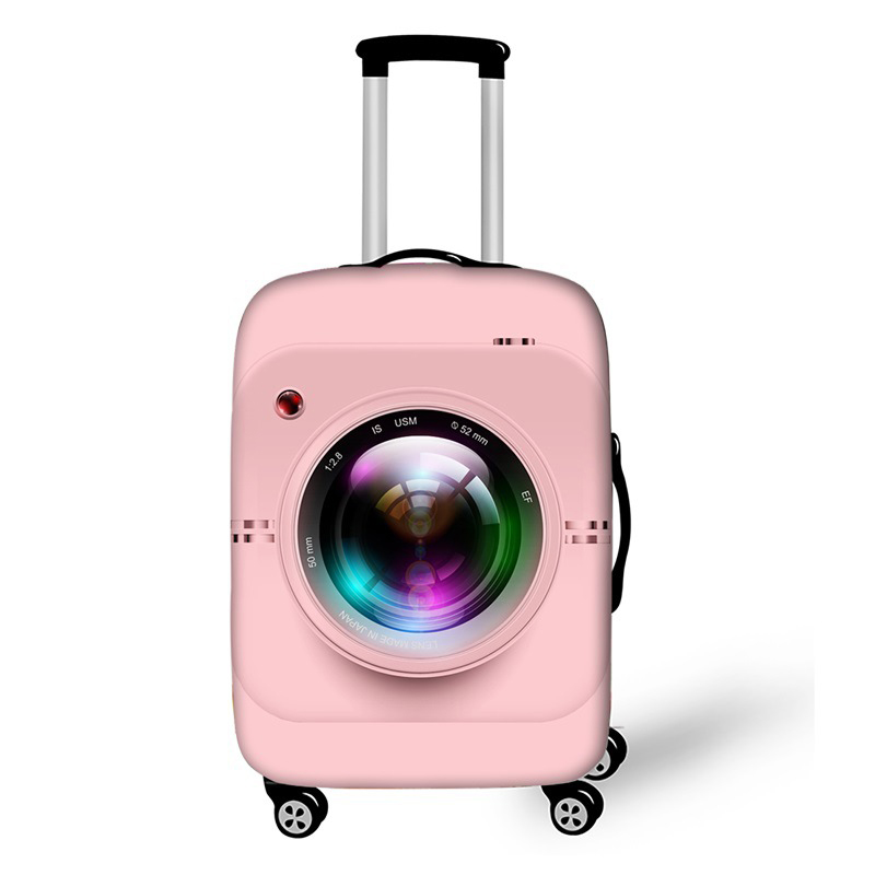 3D Camera Luggage Cover Thicken Elastic Fabric Luggage Protective Cover Trolley Case Suitcase Dust Cover Travel Accessories