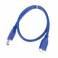 USB 3.0 A To Micro B Cable For WD Seagate Samsung External Hard Drive Cable Matters Micro USB Cable in Blue 1 Meter