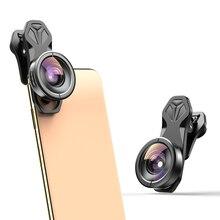 Apexel hd 170 lente de câmera super grande angular para lente dupla única iphone, pixel, samsung galaxy todos os smartphones para xiaomi