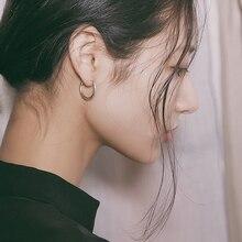 2019 New 925 Sterling Silver Earrings For Women Mini Small Korean Hoops Circle Simple Ear Bone ring Buckle Jewelry gift