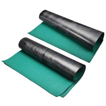 Uxcell مكافحة ساكنة ESD حصيرة ارتفاع درجة الحرارة المطاط الجدول حصيرة أخضر أسود للحشو سطح المكتب والتجميع أسطح العمل