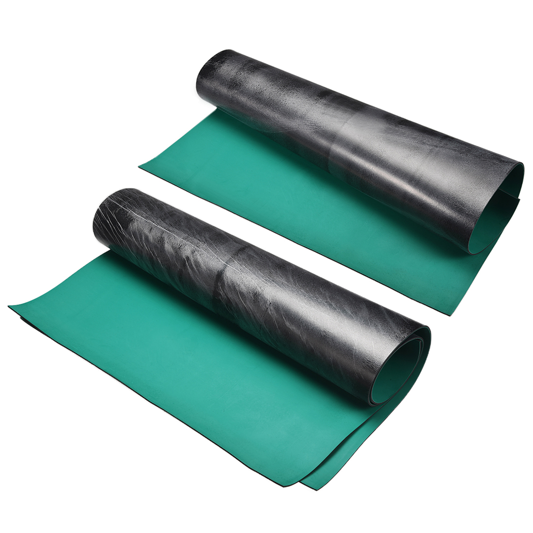 Uxcell Anti Static ESD Mat High Temperature Rubber Table Mat Green Black For Padding Desktops And Assembly Work Surfaces